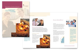 Investment Company - Brochure Template Design Sample