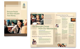 Credit Union & Bank - Adobe InDesign Brochure Template