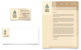 Credit Union & Bank - Business Card & Letterhead Template Design Sample