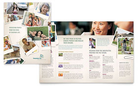 Life Insurance Company - Brochure Template Design Sample