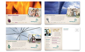 Life Insurance Company - Postcard Template