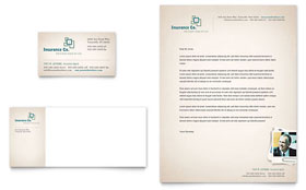 Life Insurance Company - Business Card & Letterhead Template Design Sample