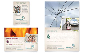 Life Insurance Company - Flyer & Ad Template Design Sample