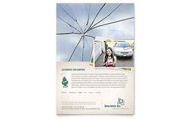 Life Insurance Company - Flyer Template Design Sample