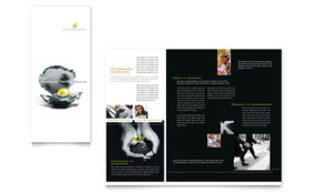 Wealth Management Services - Print Design Brochure Template