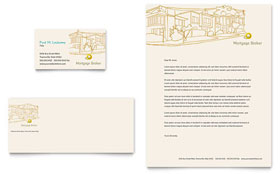 Mortgage Broker - Business Card & Letterhead Template Design Sample
