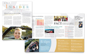 Car Insurance Company - Newsletter Template Design Sample