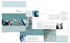 Wealth Management Services - Brochure Template Design Sample