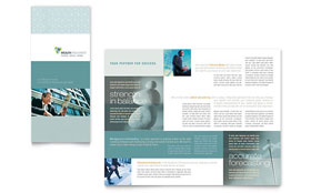 Wealth Management Services - Tri Fold Brochure Template Design Sample