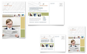 Investment Advisor - Postcard Template Design Sample