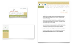 Investment Advisor - Business Card & Letterhead Template Design Sample