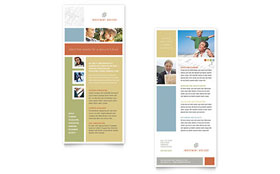 Investment Advisor - Rack Card Template Design Sample