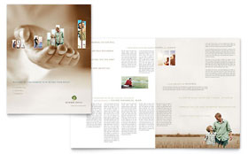 Retirement Investment Services - Brochure Template Design Sample