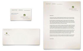 Retirement Investment Services - Business Card & Letterhead Template Design Sample