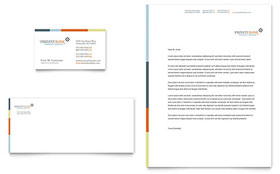 Private Bank - Business Card & Letterhead Template Design Sample