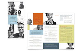 Private Bank - Tri Fold Brochure Template Design Sample