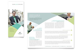 Financial Advisor - Microsoft Word Brochure Template