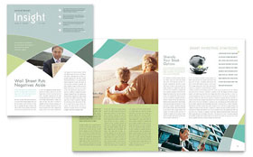 Financial Advisor - Newsletter Template Design Sample