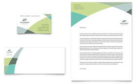 Financial Advisor - Business Card & Letterhead Template Design Sample