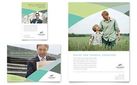 Financial Advisor - Flyer & Ad Template Design Sample