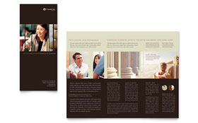 Financial Planner - Brochure Template Design Sample