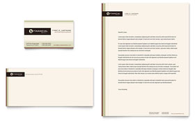 Financial Planner - Business Card & Letterhead Template