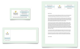 Mortgage Lenders - Business Card & Letterhead Template Design Sample