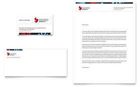 Investment Bank - Business Card & Letterhead Template Design Sample