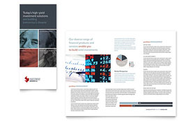Investment Bank - Tri Fold Brochure Sample Template