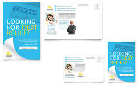 Consumer Credit Counseling - Postcard Template Design Sample