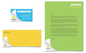 Consumer Credit Counseling - Business Card & Letterhead Template Design Sample