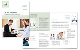 Accounting & Tax Services - Brochure Template Design Sample