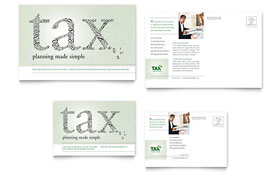 Accounting & Tax Services - Postcard Template Design Sample