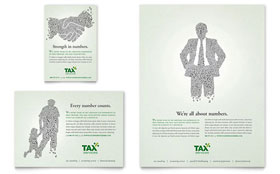 Accounting & Tax Services - Flyer & Ad Template Design Sample