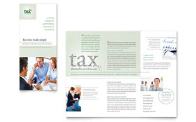 Accounting & Tax Services - Apple iWork Pages Tri Fold Brochure Template