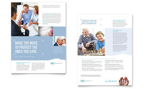 Estate Planning - Datasheet Template Design Sample