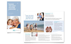 Estate Planning - Microsoft Word Tri Fold Brochure Template