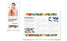 Bookkeeping Services - Pamphlet Template Design Sample