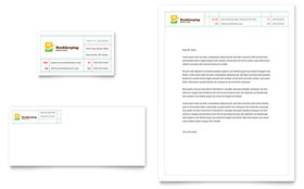 Bookkeeping Services - Business Card & Letterhead Template Design Sample