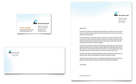Accounting Firm - Business Card & Letterhead Template