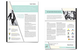 Venture Capital Firm - Sales Sheet Sample Template