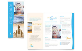 Beauty Spa - Apple iWork Pages Brochure Template