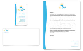 Beauty Spa - Business Card & Letterhead Template Design Sample