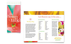 Florist Shop - Tri Fold Brochure Template