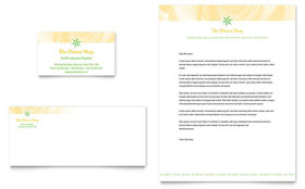 Florist Shop - Business Card & Letterhead Template