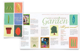 Garden & Landscape Design - Brochure Template Design Sample