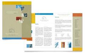 Architectural Firm - Brochure Template Design Sample