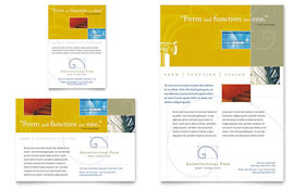 Architectural Firm - Flyer & Ad Template Design Sample