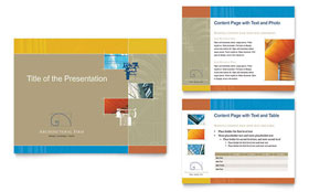 Architectural Firm - PowerPoint Presentation Template Design Sample