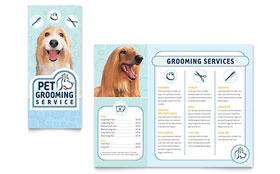 Pet Grooming Service - Brochure Template Design Sample